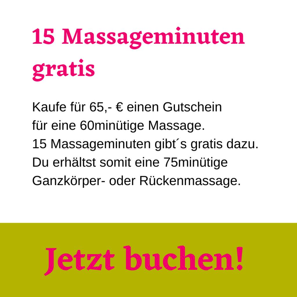60 min Massage kaufen + 15 Gratis-Massageminuten erhalten. Wilder Thymian. Aromatherapie und Massagen Berlin