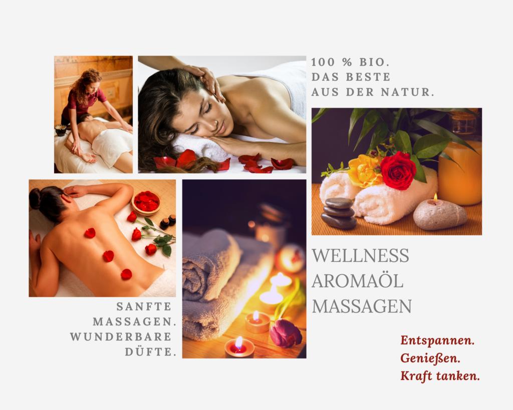 Wellness-Aromaöl-Massagen: Entspannen. Genießen. Kraft tanken.