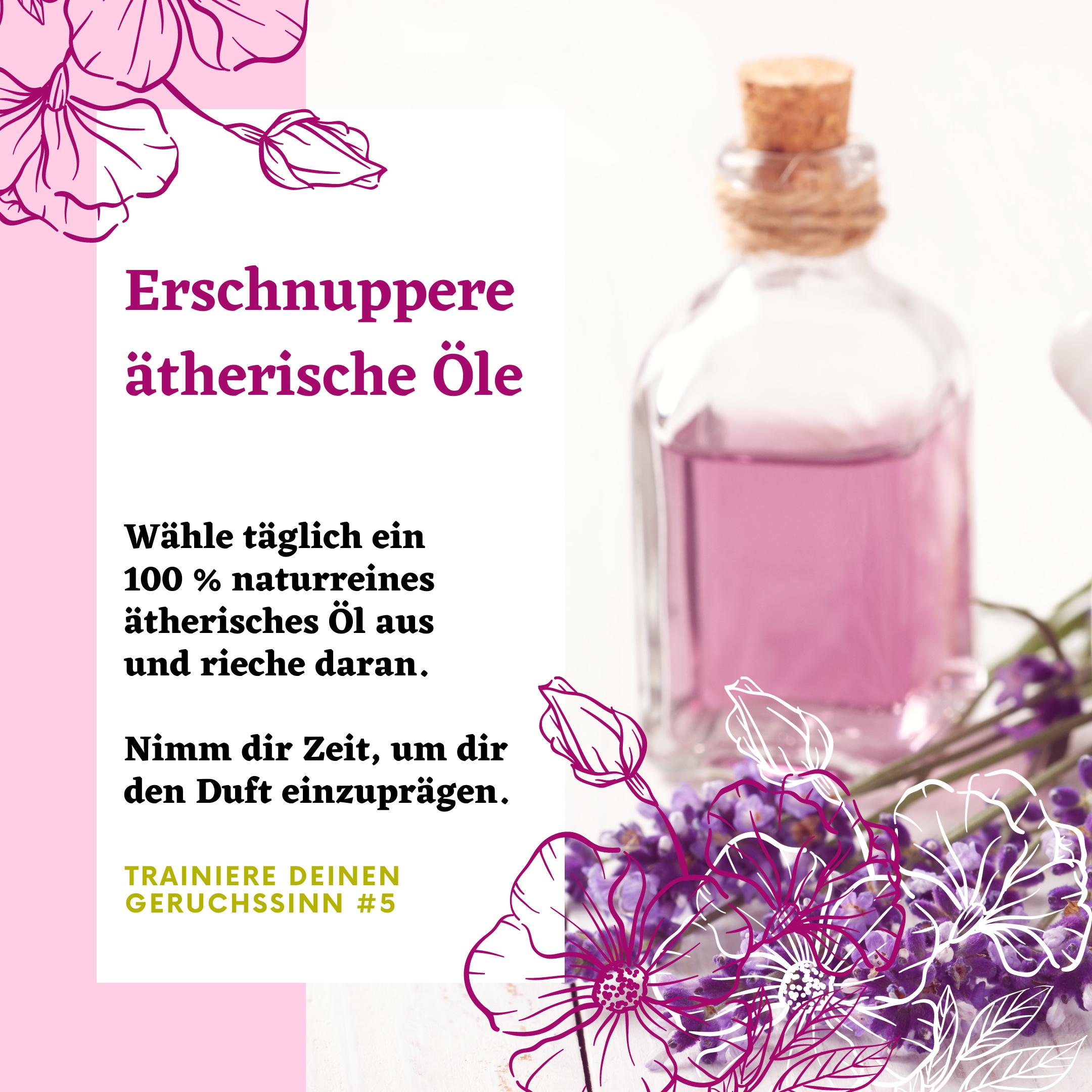 Trainiere deinen Geruchssinn: Erschnuppere ätherische Öle